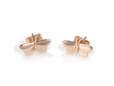 Rose Golden Butterfly-shaped Earrings
