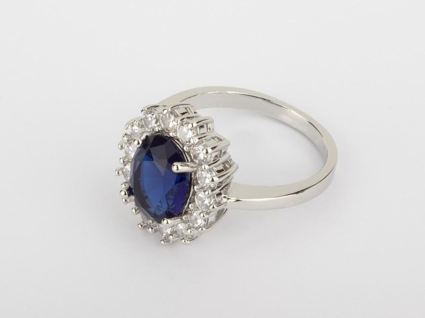 Bague Bleu Saphir