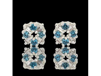 Boucles d'Oreille Bleu Céleste