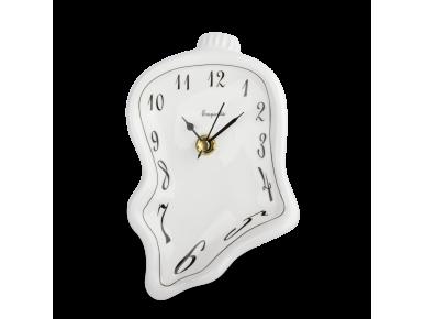 Reloj de cerámica esmaltada en blanco y negro