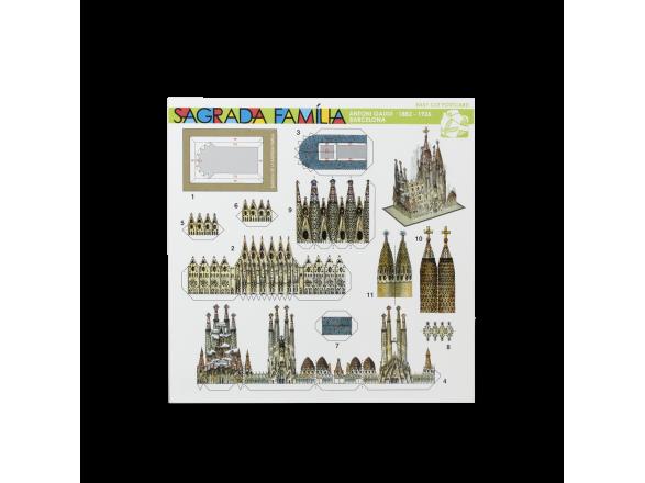 Postal Recortable - Sagrada Família