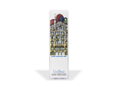 Die-cut bookmark of the Casa Batlló in its plastic case