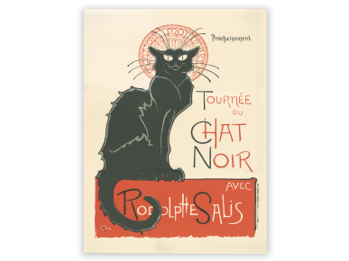 lithograph of the presentation poster of the cabaret Le Chat Noir