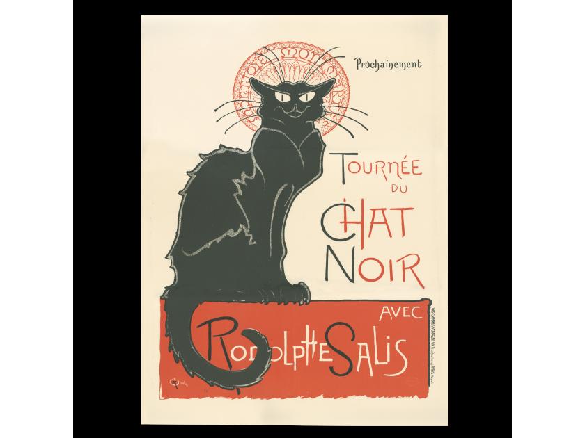litografía del cartel del cabaret Le Chat Noir