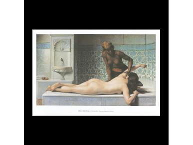 """Affiche du tableau """"Le Massage, scène de Hammam"""""""