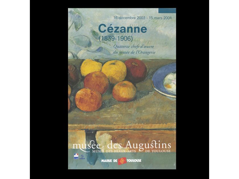 cartel de una exposición dedicada a Cézanne