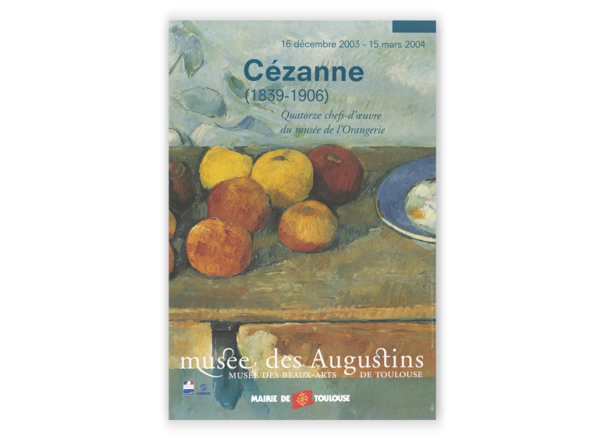 poster for a Cézanne exhibition