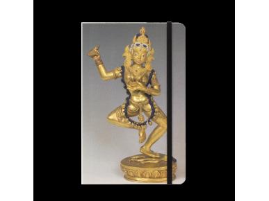 Quadern amb una estatueta de la deessa budista Vajravârâhî a la tapa.