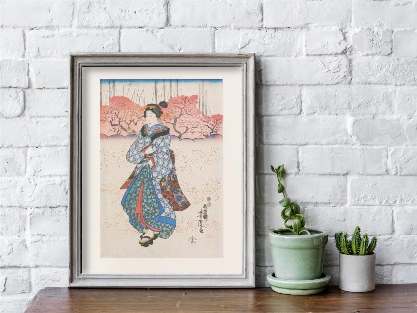 Print by the Japanese artist Yoshitora.