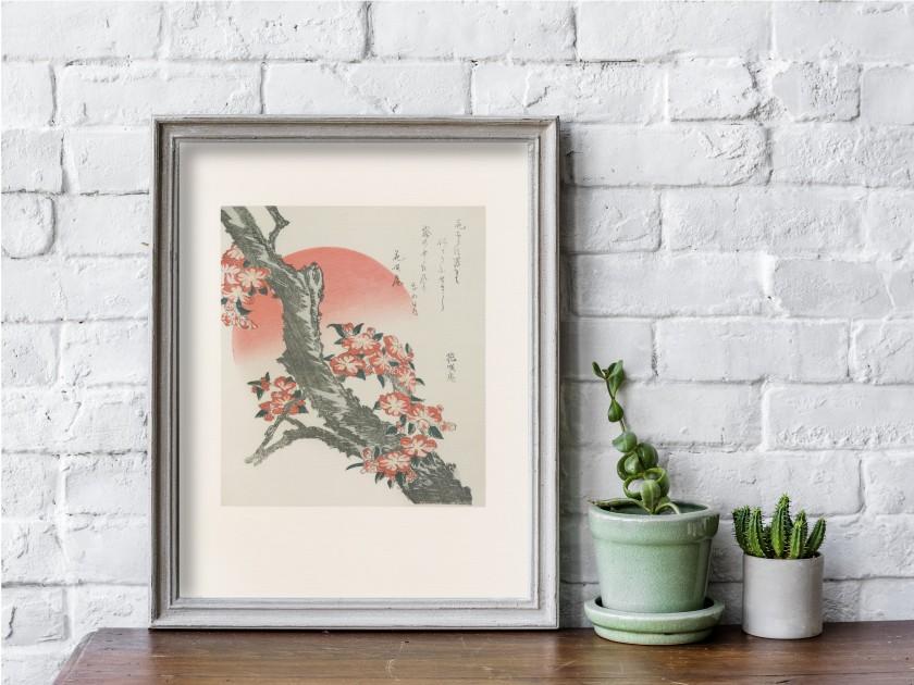 Print by Japanese artist Hokusai
