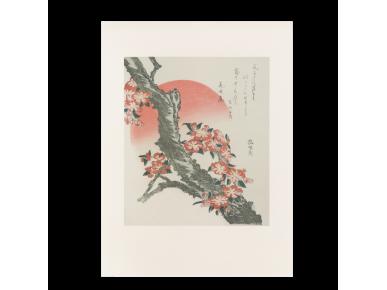 Estampe de l'artiste japonais Hokusai.