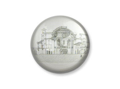 Dome Paperweight - A view of Le Castelet