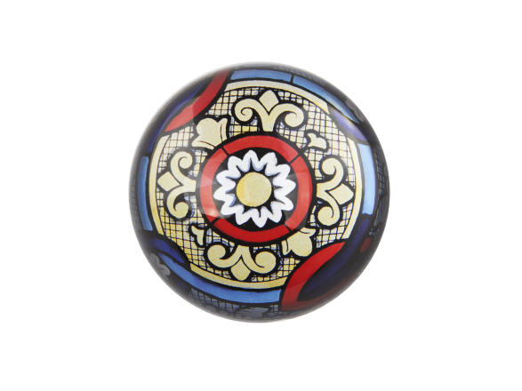 Dome Paperweight - Old Stained Glass Window