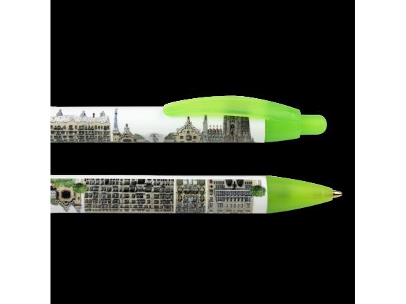 Dos bolígrafos ilustrados con los monumentos de Gaudí