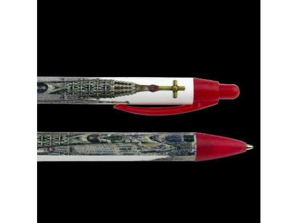 Dos bolígrafos ilustrados con una fachada de la Sagrada Família
