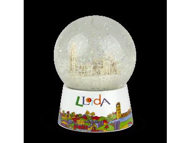 bola de neu amb una reproducció de la Catedral de Lleida en el seu interior