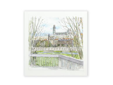 Small Watercolour Painting - Lleida