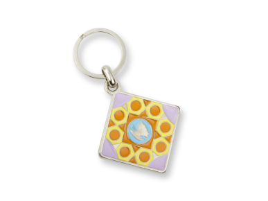 Keyring - Stained Glass and Butterfly
