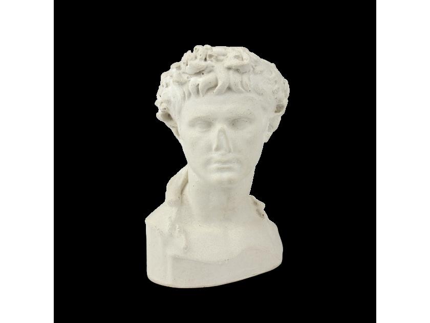 Busto del emperador Augusto visto de frente