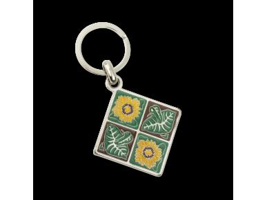 Keyring - Sunflower and Leaf