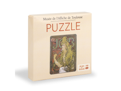 Puzzle box with Mucha poster to assemble on the top