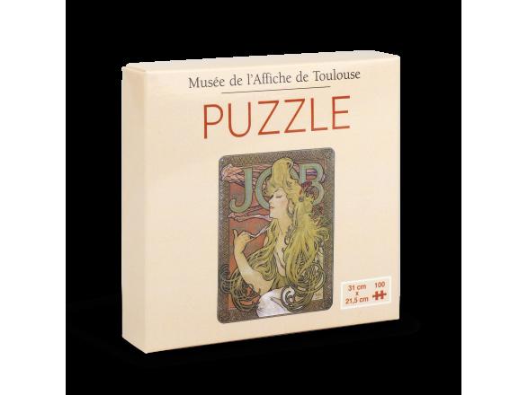Caja de puzzle con póster de Mucha para montar en la tapa