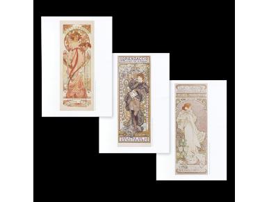 Set of 3 Posters - Alphonse Mucha