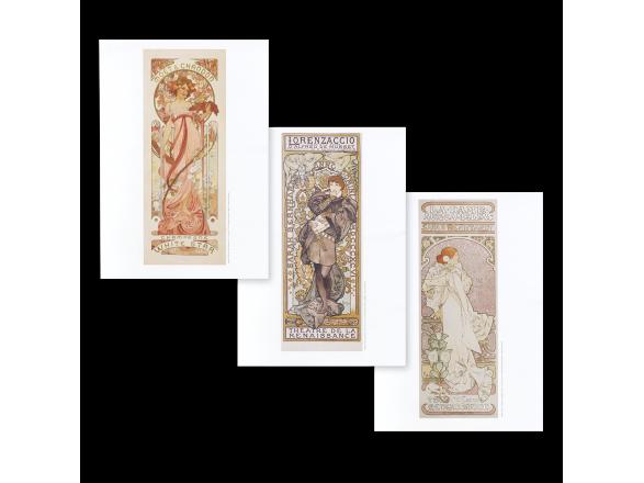 Lot de 3 Affiches - Alphonse Mucha