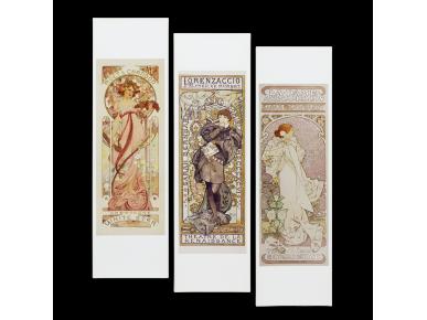 Set de 3 Marcapáginas - Alphonse Mucha