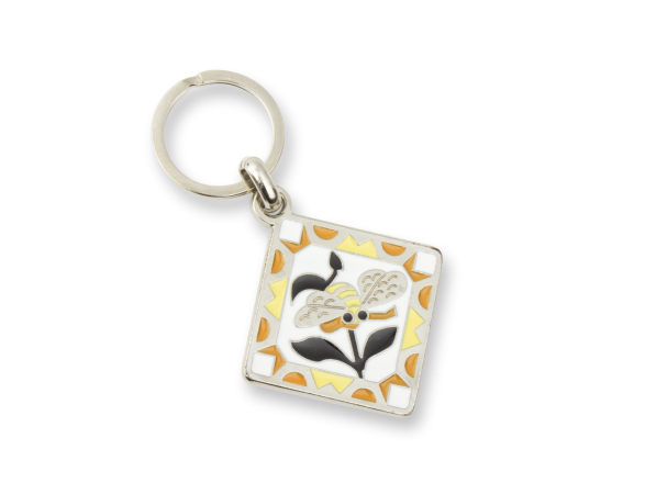 Keyring - Stained Glass and Bee