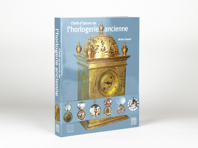 "tapa del catálogo de la exposición ""Chefs-d'oeuvre de l'horlogerie ancienne""."