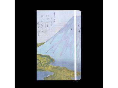 Cuaderno cuya tapa representa un detalle de un grabado del artista japonés Hokkei.