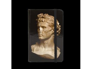 carnet vu de face avec le buste d'Auguste imprimé sur la couverture
