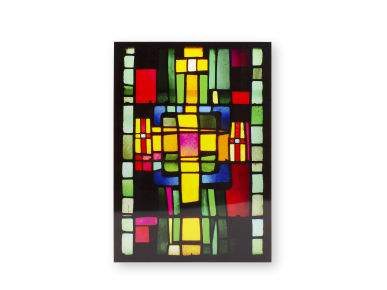 Static Cling Window Decoration - Modern Stained Glass Window