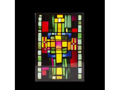 vinilo electrostático que representa una vidriera