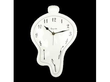 Horloge en céramique émaillée en noir et blanc