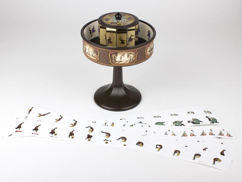 praxinoscopio visto desde el suelo