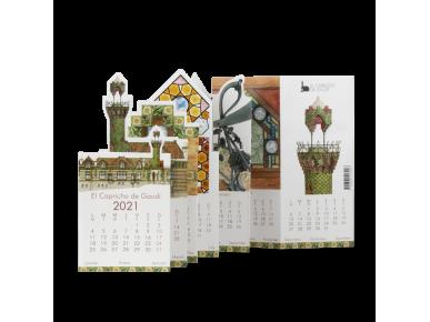 2021 Pocket Calendar - El Capricho of Gaudí