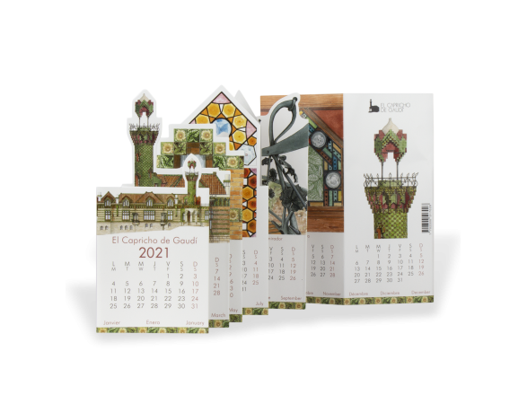 Calendario de Bolsillo 2021 - El Capricho de Gaudí