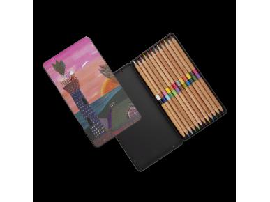 Caja de Lápices de Colores - El Enigma de Villa Quijano
