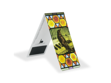 Magnetic Bookmark - Stained Glass with Blackbird