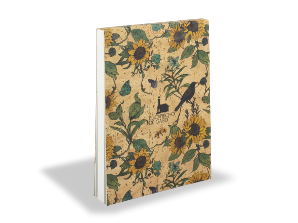 Cork Notebook - Sunflowers