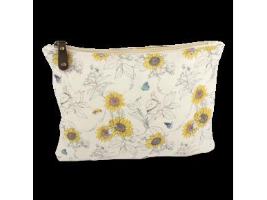 Cotton Wash Bag - Sunflowers
