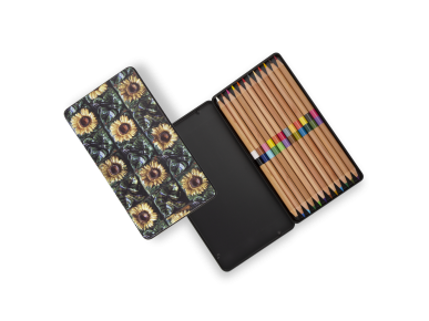 Caja de Lápices - Girasoles