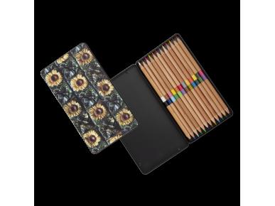 Coloured Pencil Case - Sunflowers