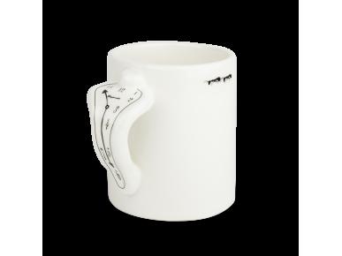 Taza clásica esmaltada en blanco y negro