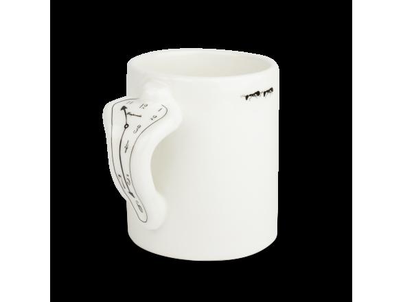 Mug classique émaillé en noir et blanc