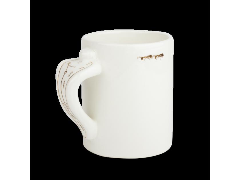 White ang gold enamelled classic mug