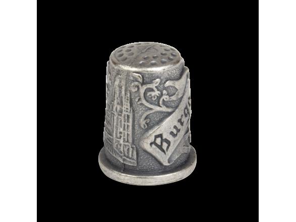 dé à coudre en métal gravé pour la cathédrale de burgos