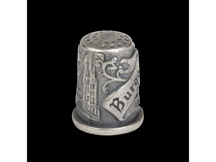 Dedal de metal grabado para la catedral de Burgos